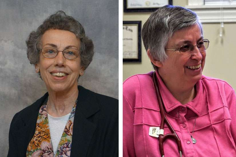 Sister Margaret Held, 68, a member of the School Sisters of St. Francis in Milwaukee, and Sister Paula Merrill, 68, a member of the Sisters of Charity of Nazareth in Kentucky, are pictured in undated photos. The two women religious were found stabbed to death Aug. 25 in their Durant, Mississippi, home, police said.