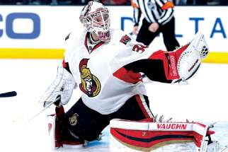 "Ottawa Senators' goalie Andrew Hammond, the ""Hamburglar."""