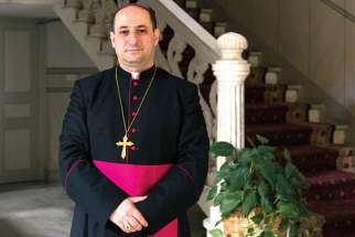 Syriac Catholic Bishop Paulos Antoine Nassif poses for a photograph Jan. 26 at the Syriac Catholic Archbishopric in Beirut. Nassif, ordained Jan. 23, will lead the first apostolic exarchate for Syriac Catholics living in Canada, with the jurisdiction based in Montreal and Laval, Que.