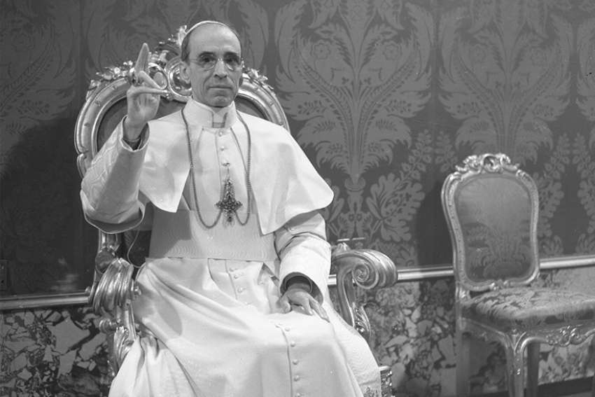 Pope Pius XII, who led the Catholic Church from 1939 to 1958, is pictured in this undated photo at the Vatican. Pope Francis announced March 4 that all the documents on Pope Pius in the Vatican Secret Archives will be made available to researchers starting March 2, 2020.