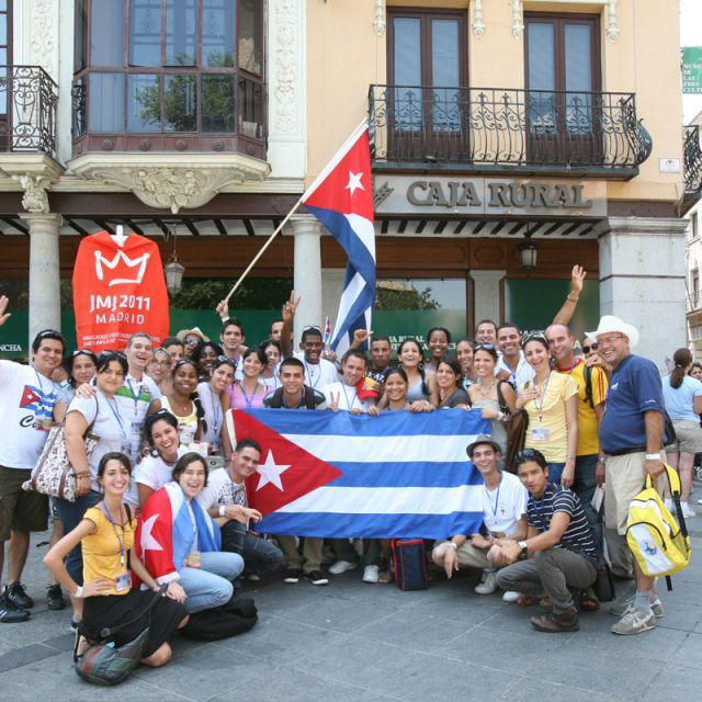 Members of the World Youth Day delegation from Cuba pose for a photo in Toledo, Spain last August.