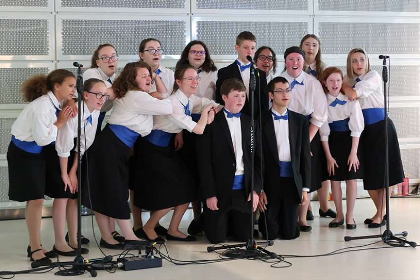 The Young Catholic Musicians choir performed in Toronto in early June.
