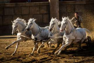 "Jack Huston stars in a scene from the movie "" Ben-Hur."""