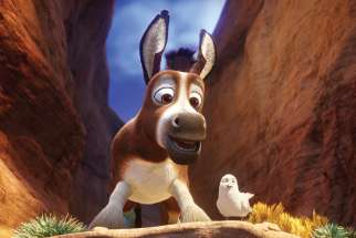Stephen Yeun, from The Walking Dead TV series, is the voice of Boas the donkey in The Star. His best friend, Dave the Dove, is played by Keegan-Michael Key.