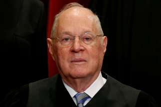 Justice Anthony Kennedy is seen at the U.S. Supreme Court building in Washington June 1, 2017. The 81-year-old Californian said June 27 that he will retire July 31.CNS photo/Jonathan Ernst, Reuters
