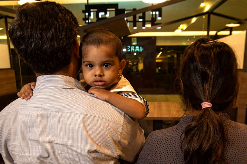 Born in Thailand to Pakistani assylum seekers, 16-month-old Ariana is stateless.