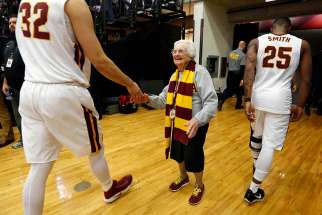 Sr. Jean has been chaplain of the Loyola men's basketball team since 1994 and is the newest member of the school's sports hall of fame