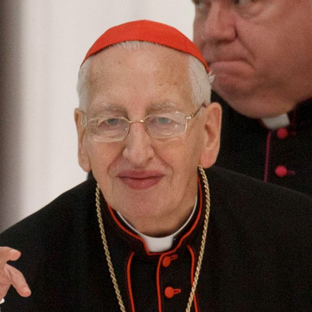 Irish Cardinal Desmond Connell, retired archbishop of Dublin from 1988 to 2004