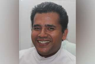 Father Xavier Thelakkat, rector of the shrine of St. Thomas in Malayattoor, India, pictured in a 2012 photo, was stabbed to death in 2018. An Indian court sentenced former sacristan Johny Vattaparamban, 54, to life imprisonment for the murder of Father Thelakkat in southern Kerala state.