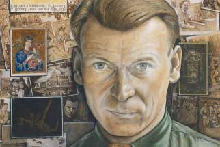 William Kurelek, seen in this self portrait, is one of the three artists that Herman Goodden explores in his new book. 'Three arists: Kurelek, Chambers and Curone.'