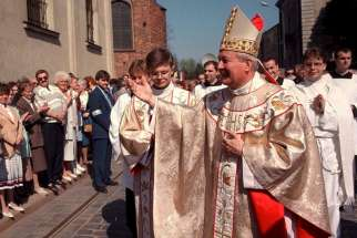 Archbishop Juliusz Paetz, formerly of Poznan, Poland, is pictured in an undated file photo. Archbishop Paetz, who resigned in 2002 after being accused of sexually molesting Catholic seminarians, has been warned by the Vatican to stay away from commemorations of Poland's Christian conversion and an upcoming visit by Pope Francis.