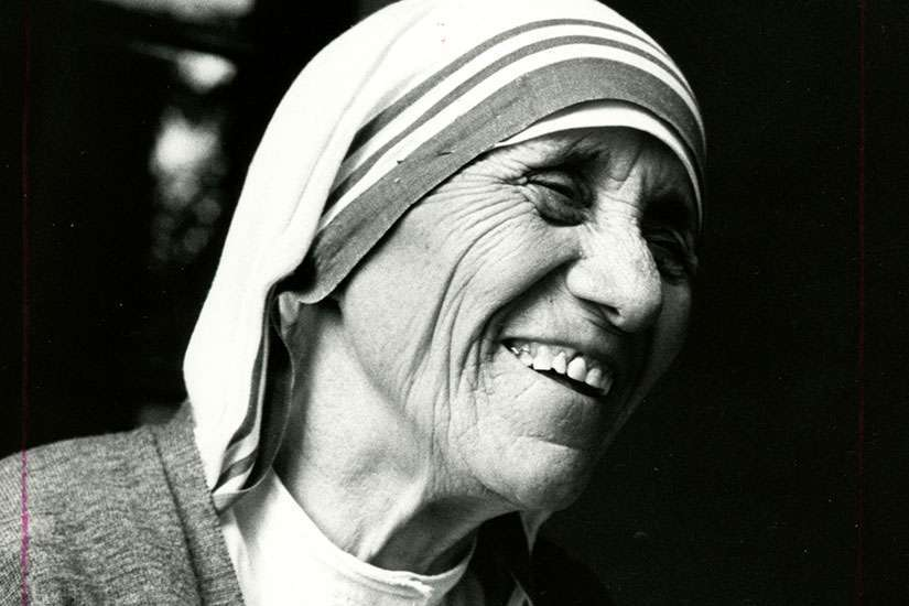 Blessed Teresa of Kolkata smiles during the opening of a Missionaries of Charity convent in Detroit in 1979.
