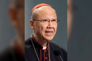 Pope Francis has accepted the resignation of Cardinal John Tong Hon, pictured here from 2012, as bishop of Hong Kong. Coadjutor Bishop Michael Yeung Ming-cheung, 70, succeeds the cardinal as head of the diocese, the Vatican announced Aug. 1.
