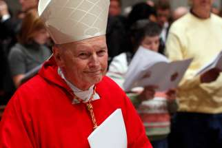 Then-Cardinal Theodore E. McCarrick, retired archbishop of Washington, arrives in procession for a Mass of thanksgiving for Cardinal Donald W. Wuerl of Washington in St. Peter's Basilica at the Vatican Nov. 22, 2010. A new lawsuit against McCarrick, who was laicized in 2019, accuses him of managing a sex ring among seminarians, altar boys and priests at a New Jersey beach house.