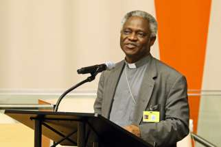 Ghanaian Cardinal Peter Turkson, president of the Pontifical Council for Justice and Peace, seen here in 2015, said the global economy needs to shift from its profit-driven model.