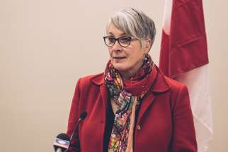 Employment Minister Patty Hajdu speaks at the re-opening of Veterans Affairs Canada office in Thunder Bay Jan. 30, 2017. BCCLA will join Toronto and Area Right to Life Association (TRTL) in its lawsuit against Hajdu.