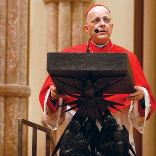 Cardinal Francis George of Chicago believes the secularization of the United States is a larger issue than any in the 2012 U.S. election campaign.