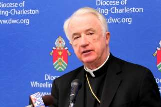 Bishop Michael J. Bransfield of Wheeling-Charleston, W.Va., is seen in this 2012 file photo. On July 19 the Vatican announced disciplinary measures for the bishop, who retired in 2018 amid allegations of sexual misconduct and financial improprieties.