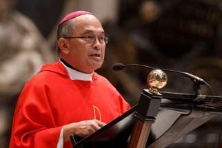 Cardinal Raymond Burke is presiding over the church trial investigating allegation of sexual abuse levelled against Archbishop Anthony S. Apuron of Agana, pictured.