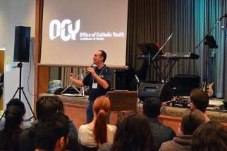 John MacMullen led a talk during OCY's first Youth Ministry Training Day on Sept. 19 where aspiring youth ministers learned how to facilitate ministries in their own parishes.