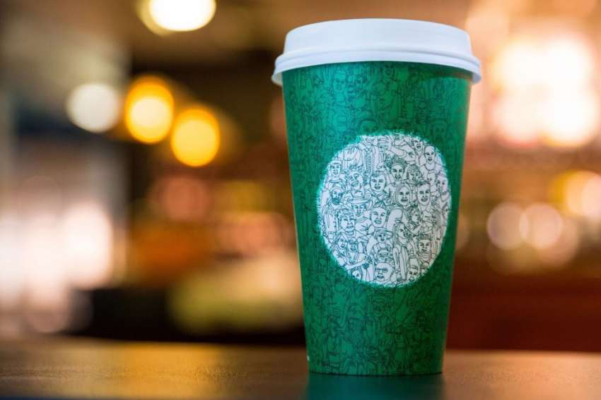 After the outrage over it's lack of Christmas reference to its coffee cups last year, Starbucks is back at it with a new design. The company says the green cup is a reference to the upcoming U.S. presidential election and not about Christmas.