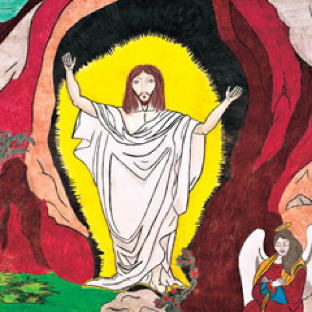 The winning entry in The Catholic Register's 2011 Easter contest. The drawing was done by 12-year-old Agustin Andres Villegas from Toronto.