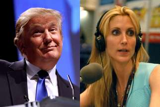 "Real estate mogul Donald Trump was critical of bringing the infected missionaries back to the United States, while columnist Ann Coulter questioned why the missionaries were working in the ""disease-ridden cesspools"" of Africa."