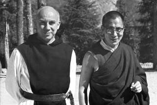 "Trappist Father Thomas Merton is pictured with Dalai Lama in 1968, whom Merton met during his Asia trip. Morgan Atkinson's new documentary on Father Merton, the famed Trappist monk from the Cistercian abbey in Gethsemani, Kentucky, was ""40 years in the making,"" he joked."