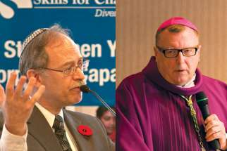 Toronto Auxiliary Bishop John Boissonneau, right, and Rabbi Baruch Frydman- Kohl will represent Catholics and Jews on the national Canadian Catholic-Jewish Dialogue.