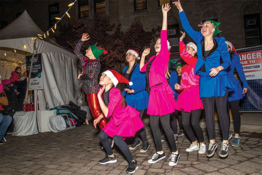 The Swansea School of Dance helped the crowd get ready for the Christmas lights to come on at the St. Joe's Promise Festival of Lights on Nov. 20 at St. Joseph's Health Centre in Toronto.