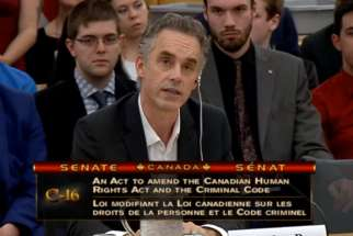 University of Toronto psychology professor Jordan B. Peterson served as a witness at the Canadian Senate on May 17, 2017 for the hearing on Bill C-16.