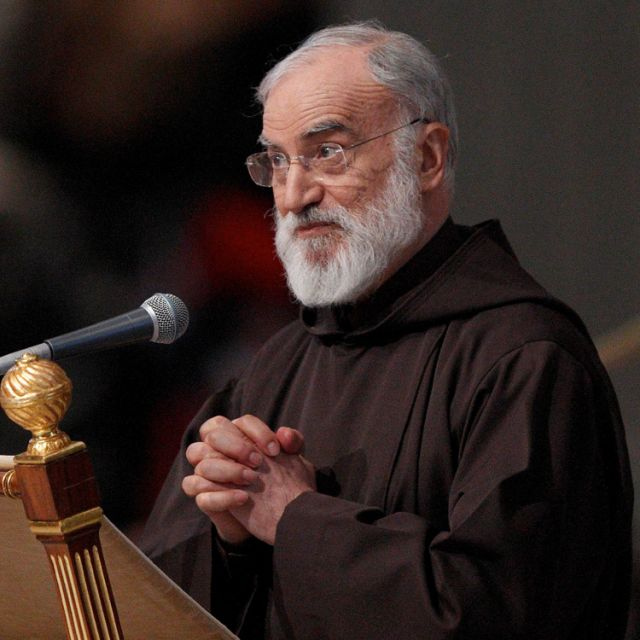 Capuchin Father Raniero Cantalamessa preaches to the pope and top Vatican officials on the Fridays of Advent and Lent.