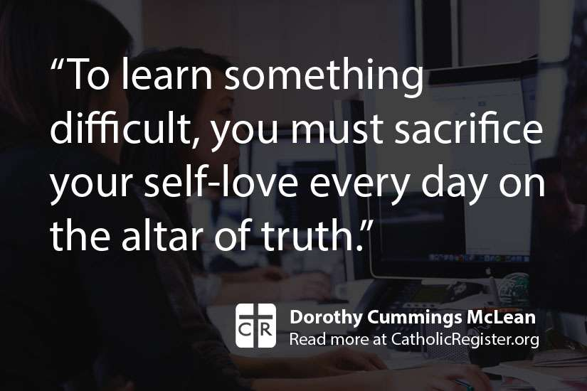 Dorothy Cummings McLean writes that success involves the Christian virtue of humility.