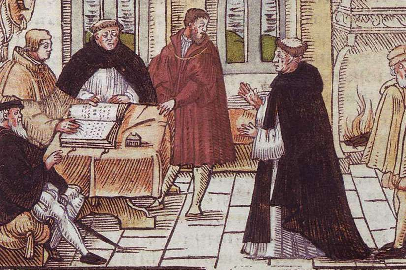 The Vatican backs a plan to name a Rome square after Martin Luther, an excommunicated German Catholic priest and theologian, a key figure in the Protestant Reformation. He is depicted on the right hand side.