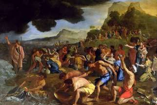 The Crossing of the Red Sea by Nicolas Poussin (1594-1665)