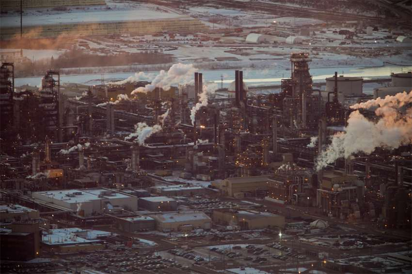 Oil sands in Fort McMurray, Alberta, 2012.