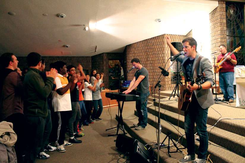 St. Anthony of Padua youth group celebrates one year of ministry with a Chris Bray charity concert.