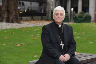 Chaldean Catholic Bishop Antoine Audo of Aleppo, Syria, poses for a photo in Dublin Nov. 25. Bishop Audo, who is the president of Caritas in Syria, has appealed to Pope Francis to use his time in Turkey to raise the issue of the ongoing supply of arms b eing sent across the Turkish border to rebel factions in northern Syria.