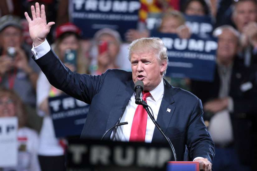 Republican presidential nominee Donald Trump speaking at a rally in Phoenix, Arizona June 18. The Trump campaign announced Sept. 22 that it has formed a group of Catholic leaders to advise him.