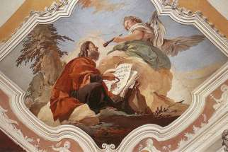 An angel touching Isaiah's lips with a coal, by Giovanni Battista Tiepolo (1726-1729).