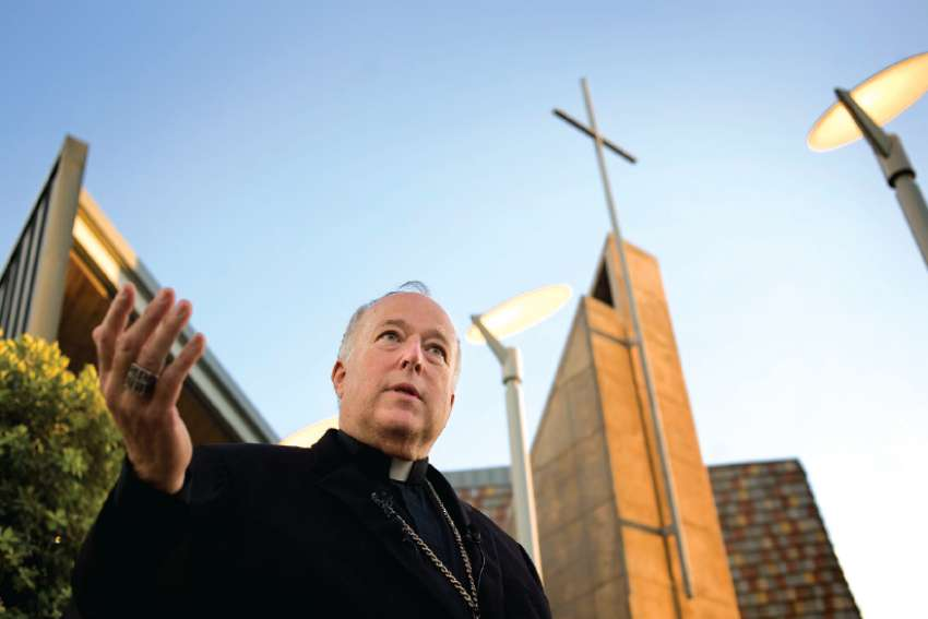 Bishop Robert McElroy supported outreach program for gay Catholics.