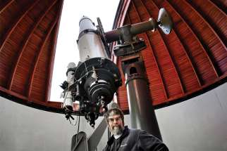 U.S. Jesuit Brother Guy Consolmagno, director of the Vatican Observatory is pictured at the observatory in Rome in this Dec. 12, 2007, file photo.