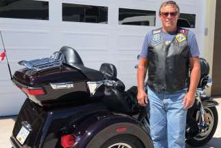 Wayne Reville, president of the B.C. chapter of Knights on Bikes.