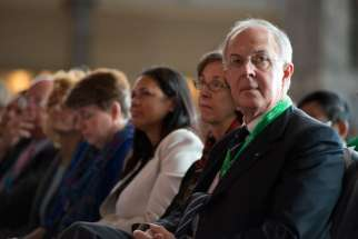 Supreme Knight Carl Anderson of the Knights of Columbus attends the opening ceremonies of the 2015 World Meeting of Families Sept. 22 in Philadelphia.