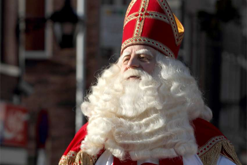 Sinterklaas as depicted in the Netherlands.