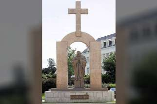 A French court ordered authorities to remove a statue of St. John Paul II in the town of Ploermel. The town's mayor plans to appeal the court order.