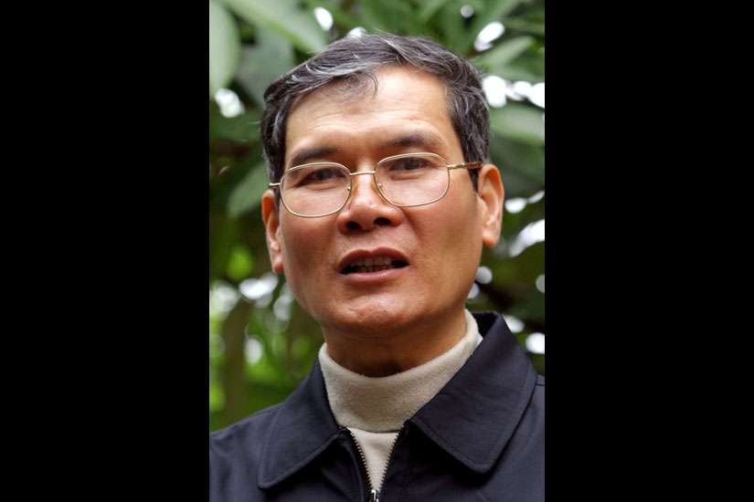 Father Thaddeus Nguyen Van Ly, a human rights campaigner jailed by Vietnamese authorities, was released from prison three days ahead of the May 22 visit by U.S. President Barack Obama to Vietnam. He is pictured in an undated photo.