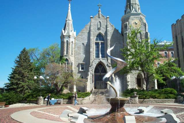 St. John's Roman Catholic Church on the Creighton University campus at Omaha, Nebraska, United States.