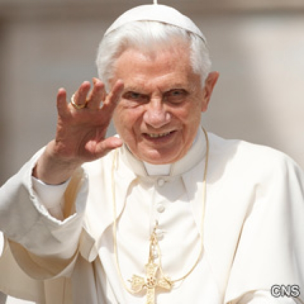 Pope Benedict XVI waves as he arrives for his general audience in St. Peter's Square at the Vatican June 1.