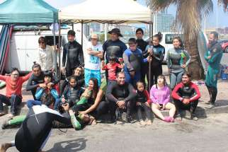 'Waves of Hope' free surfing school base din northern Chile is a place for children and young adults with mental disabilities to find love.